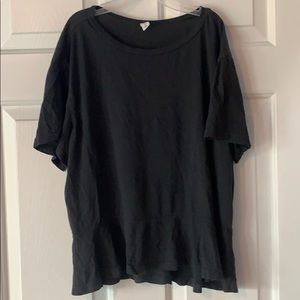 BP by Nordstrom black tee with flounce bottom
